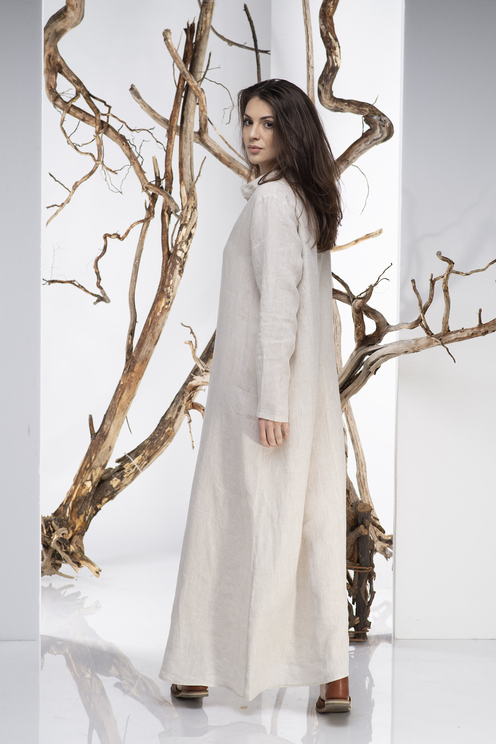 Loose Fit Linen Dress - ALLSEAMS