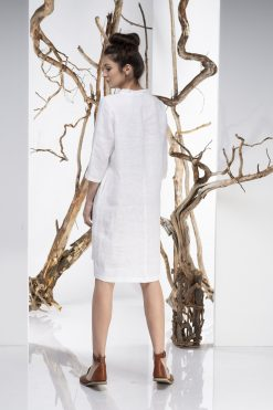 Dress For Women, Linen Dress, White Dress, Pocket Dress, Midi Linen Dress, Shirt Dress, White Tunic Dress, Plus Size Linen, Minimalist Dress