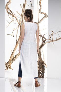 White Linen Dress, White Shirt, Oversize Shirt Dress, Linen Tunic Dress, Minimalist Clothing, Plus Size Linen, Summer Boho Shirt, Sleeveless
