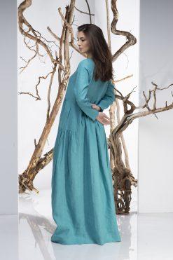 Women Dress, Turquoise Dress, Linen Dress, Maxi Dress, Kaftan Dress, Plus Size Clothing, Loose Dress, Linen Clothing, Boho Dress, Oversize
