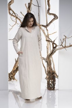 Dress For Women, Linen Dress, Kaftan Dress, Boho Maxi Dress, Plus Size Linen, Oversize Dress, Loose Dress, Natural Linen Dress, Minimalist