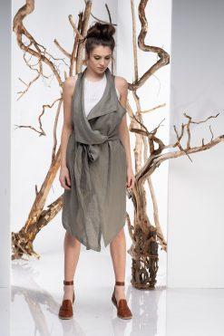 Women Vest, Linen Vest, Boho Vest, Plus Size Clothing, Asymmetrical Vest, Sleeveless Vest, Belt Vest, Plus Size Vest,Linen Clothing,Oversize