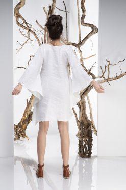White Linen Dress, Linen Tunic Dress, Plus Size Dress, Batwing Dress, Asymmetrical Dress, White Tunic Dress,  Plus Size Linen, Avant Garde
