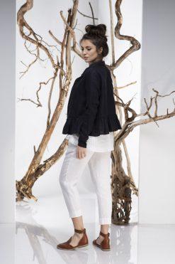 Women Blazer, Linen Blazer, Black Blazer, Ruffle Blazer, Linen Vest, Plus Size Linen, Minimalist Clothing, Elegant Blazer, Oversize Blazer