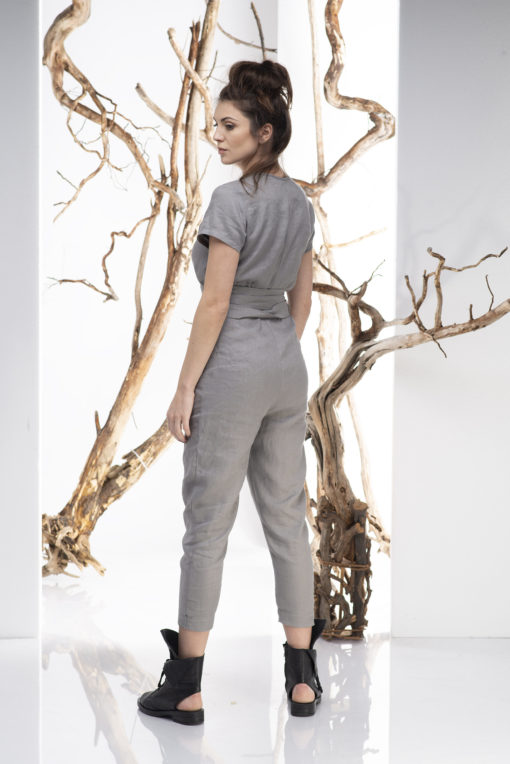 Women Jumpsuit, Linen Jumpsuit, Gray Jumpsuit, Women Romper, Linen Overall, Elegant Jumpsuit, Minimalist Clothing, Boho Jumpsuit, Sexy