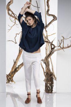 Women Pants, Linen Pants, Capri Pants, Boho Pants, White Pants, Minimalist Clothing, Oversize Pants, Linen Capri Pants, Plus Size Linen