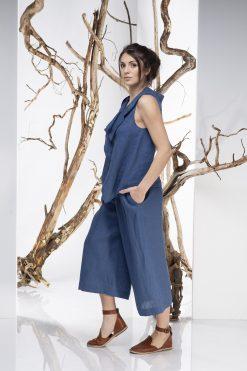 Linen Pants, Blue Pants, Women Pants, Capri Pants, Wide Leg Pants, Minimalist Clothing, Boho Linen Pants, Plus Size Clothing, Oversize Pants