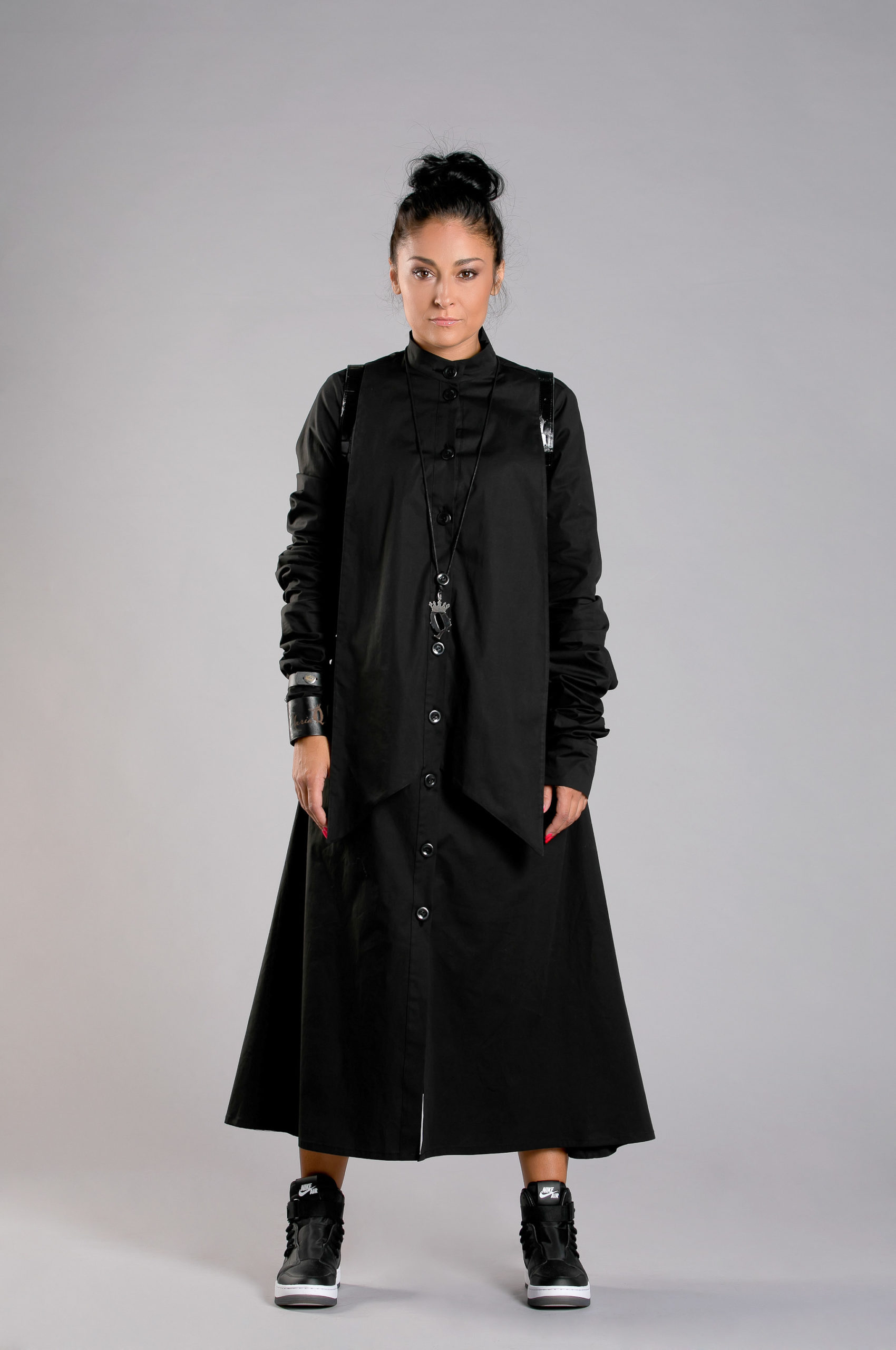 Dress With Gathered Sleeves Allseams