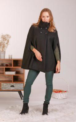 Wool Poncho Coat, Winter Cloak, Midi Coat, Elegant Cape Coat, Plus Size Clothing, Wool Cape, Petite Coat, Wool Overcoat, Designer Coat