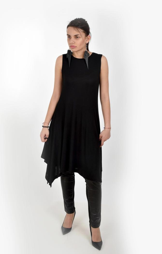 Black and white asymmetrical dress up women size