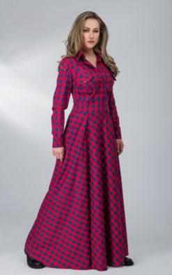 Maxi Plaid Dress (1)