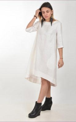 Mid Sleeve Linen Dress