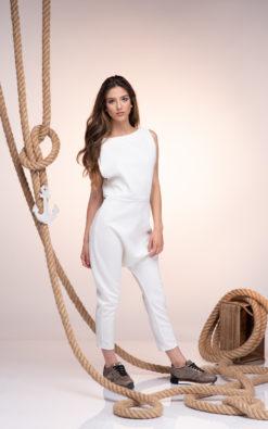 White Neoprene Jumpsuit, White Harem Jumpsuit, Women Jumpsuit, Drop Crotch Jumpsuit, Wedding Jumpsuit, Futuristic Clothing, Plus Size Romper