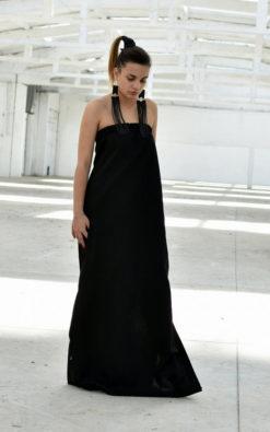 Strapless Linen Dress