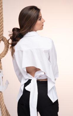 White Backless Shirt