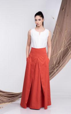 High Waisted Long Skirt
