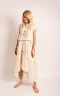 Linen Collar Dress