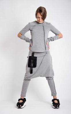Set - Sweatshirt And Harem Pants