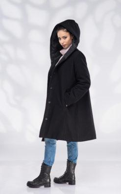 Wool Coat, Plus Size Coat, Coats Women, Winter Coat, Oversized Coats, Coat with Lining, Maxi Coat, Warm Coat, Hooded Coat, Plus Size Clothing, Black Hoodie, Quilted Coat, Black Coat
