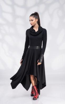 Winter Hooded Dress, Pixie Dress Cowl Hood