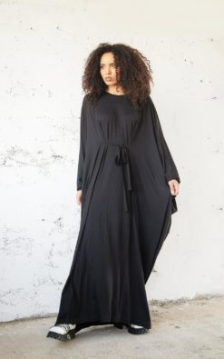 Black Kaftan Dress, Abaya Dress, Black Maxi Dress, Plus Size Clothing, Oversize Kaftan, Dress For Women, Black Gothic Dress, Fall Dress