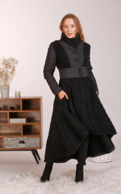 Wool Jacket Coat, High Neck Coat, Wool Overcoat, Asymmetrical Coat, Plus Size Clothing, Elegant Coat, Boucle Coat, Winter Jacket, Princess