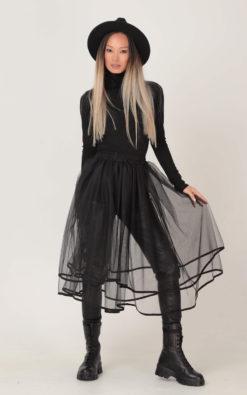 Black Tulle Skirt, Sheer Skirt, See Through Skirt, Plus Size Clothing, Knee Skirt, Halloween Skirt, Black Skirt, Fall Skirt, Witch Skirt