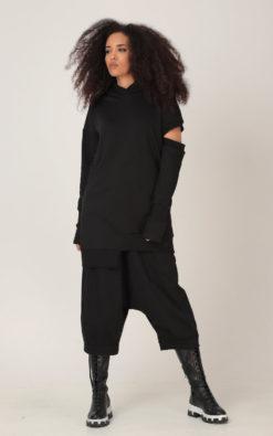 Harem Pants, Black Pants, Crop Pants, Drop Crotch Pants, Wide Leg Pants, Plus Size Clothing, Baggy Pants, Oversize Pants, Capri Harem Pants