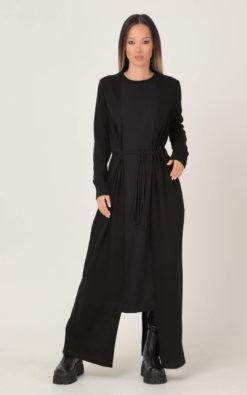 Sweater Dress, Knitted Maxi Dress, Black Dress, Loose Knit Dress, Winter Dress, Plus Size Clothing, Dress For Women, Gothic Knit Dress