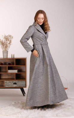 Wool Princess Coat, Long Winter Coat, Plus Size Clothing, Wool Maxi Coat, Elegant Coat, Winter Wrap Coat, Extravagant Coat, Designer Coat
