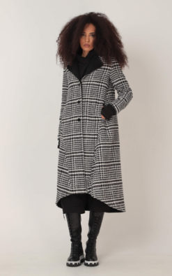 Winter Wool Coat, Women Winter Coat, Wool Warm Coat, Check Coat, Plus Size Clothing, Plaid Coat, Long Coat, Tartan Coat, Maxi Coat, Adeptt