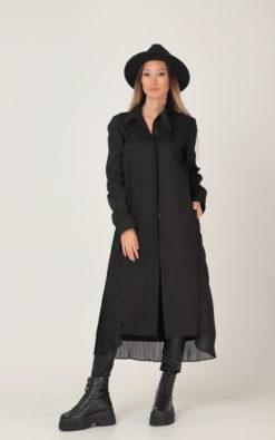 NEW Women Shirt Dress, Black Shirt Dress, Plus Size Clothing, Midi Shirt Dress, Collar Dress, Long Sleeve Dress, Chiffon Dress, Adeptt