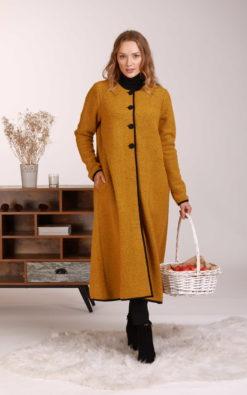 Mustard Wool Cardigan, Long Winter Cardigan, Wool Cardigan Coat, Minimalist Clothing, Winter Dress, Vintage Style Cardigan,Plus Size Clothes