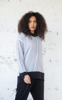 Gray Sweatshirt, Women Sweatshirt, Winter Sweatshirt, Plus Size Clothing, Women Blouse, Oversize Sweatshirt, Loose Sweatshirt, Adeptt
