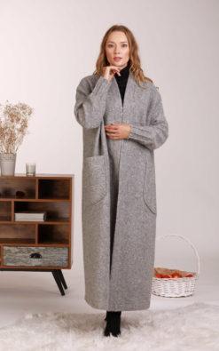 Oversize Wool Cardigan, Comfy Cardigan Coat, Maxi Cardigan with Huge Pockets, Wool Winter Cardigan, Minimalist Clothing, Plus Size Cardigan