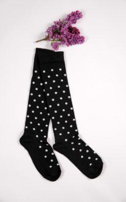 Polka Dot Socks, Women Designer Socks, Knee High Socks, Adult Socks, Cotton Socks, Black Socks, Skater Socks, White Socks, Birthday Gift