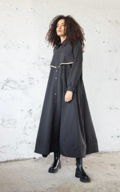 Shirt Maxi Dress, Winter Maxi Dress, Long Sleeve Dress, Plus Size Clothing, Long Winter Dress, Plus Size Maxi Dress, Shift Dress, Adeptt