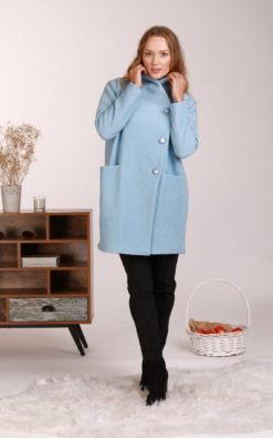 Wool Short Coat, Comfy Coat, Winter Coat, Plus Size Clothing, Pocket Coat, Blue Wool Coat, Elegant Coat, Jacket Coat, Oversize Wool Coat