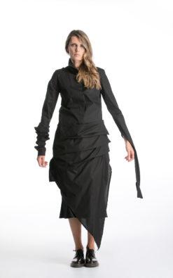 Gothic Tunic Shirt, Cyberpunk Shirt, Black Tunic Top, Avant Garde Clothing, Asymmetrical Blouse, Futuristic Clothing, New Year Party Tunic