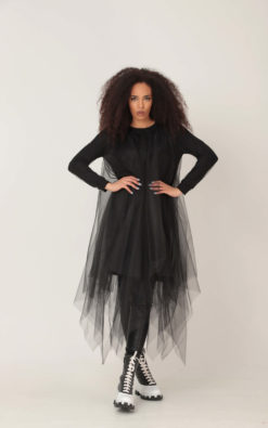 Tulle Dress, Black Dress, Plus Size Clothing, Halloween Dress, Gothic Dress, Sheer Dress, See Through Dress, Plus Size Dress, Midi Dress