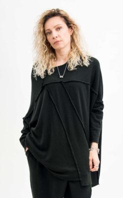 Loose knit sweater women plus size clothing, Black blouse women long sleeve clothing women, Black blouse women top