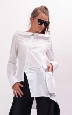 Womens white shirt long sleeve shirt women, Womens cotton top, White blouse women