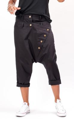 Black navy pants for women, Harem pants women, Capri harem womens pants, Loose fitting pants avant garde clothing for women