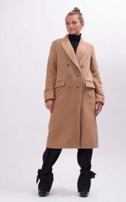 Wool long beige coat from our new winter collection, Handmade wool women's winter coat, Fancy oversized coat, No ordinary long beige coat