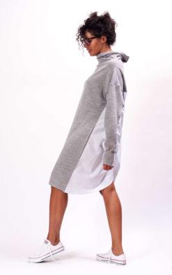 Turtleneck sweater dress, long sleeve dress, Wrap dress avant garde clothing