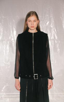Sleeveless Vest With Zipper (1)