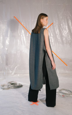 Wool Vest With Side Slits