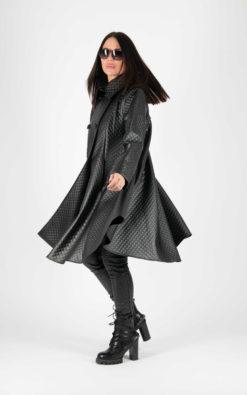 Black Leather Coat, Vegan Leather Coat, Gothic Coat, Plus Size Clothing, Trench Coat, Plus Size Coat, Oversize Coat, Loose Coat