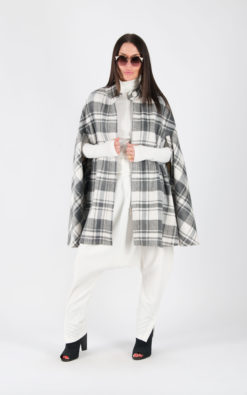 Cape Coat, Wool Coat, Winter Cape Coat, Plaid Cape, Plus Size Clothing, Tartan Coat, Checkered Coat, Warm Cape, Wool Cape Coat