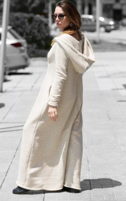Plus size Hooded Jumpsuit/Drop Crotch Jumpsuit/Daywear/Knitting Hooded Rompers/Knitted Cotton Jumpsuit/